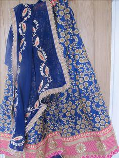 Handmade Gotta Patti Rajasthani Lehenga choli