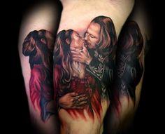Kelly Doty - Vlad and Mina from Bram Stokers Dracula tattoo