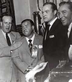 Bud Abbott and Lou Costello with Bob Hope and Bing Crosby