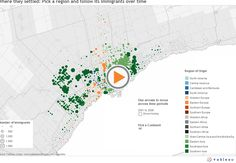 This interactive map shows immigration patters to the Greater Toronto Area since before Census Data, Greater Toronto Area, Toronto Star, Canadian History, Southern Europe, Teaching Social Studies, Interactive Map, Eastern Europe, Gta