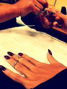 dark oxblood nail polish