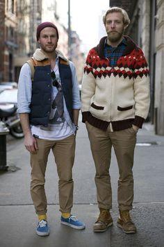 Sweater and ski vest guys