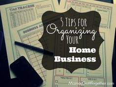 5 Tips for organizing your home business! #organizing