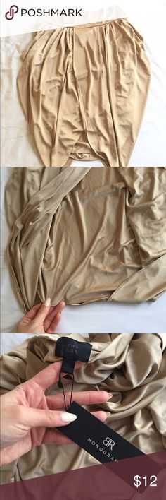 Gold shimmery tulip skirt from BR Monogram Gorgeous gold skirt in tulip drape style. Perfect for formal events or date night! Banana Republic Skirts