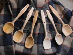 British carved spoons