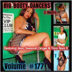 Big Booty Dancers Volume 177, Featuring Jean, Savana Ginger & Trina Starz X DVD