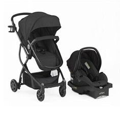Stroller Travel System Convertible 4-in-1 Reversible Seat...