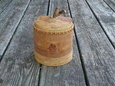 Birch Bark Canister Woodland Container Handmade by BirchBirds
