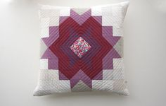 Original Echo Star Quilted Patchwork Pillow by WiseCrafthandmade