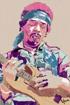 Jimi Hendrix by Bruno Freitas Martins