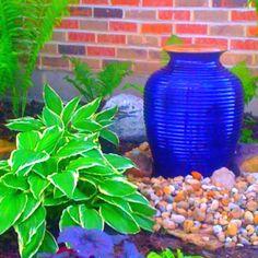 Fountain in my shade garden. Mary Homann 2011