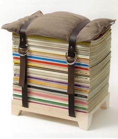 asiento con revistas