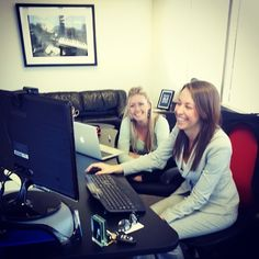 DMC Atlanta HR guru Ashley teaching our newest manager, Jen, all about social media. #sales #marketing #atlanta  http://dmcatlanta.com