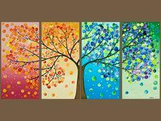 παιχνιδοκαμώματα στου νηπ/γειου τα δρώμενα: ένα χιονισμένο δέντρο............. στις 4 εποχές του χρόνου !!!
