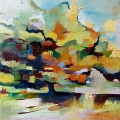 ARTFINDER: Shade by Judy McSween - Shade is an abstract oil painting of a live oak tree I photographed in October while hiking in the Ace Basin outside of Charleston, SC.  The solitary tree st...