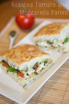 Roasted Tomato and Mozzarella Sandwich for the Starbucks Party for Kate's 14th
