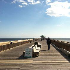 Folly Beach pier in Charleston, SC :)