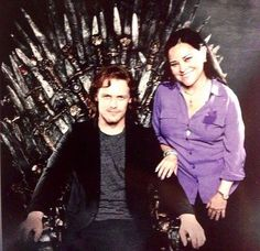 King of Men--Sam Heughan and Diana Galbadon @ ComicCon on GoT