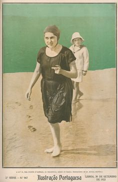 September 1922 - Ilustração Portuguesa  Bathing costume - at the beach
