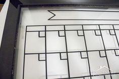 DIY Dry Erase Calendar || Practically Functional