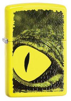 29414- Alligator Green Neon Yellow Color Image Zippo Windproof Lighter