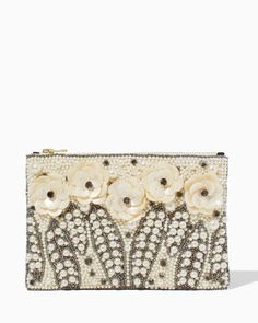 Pearls and Petals Beaded Pouch | Accessories - Beaches & Bubbly | charming charlie