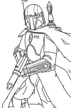 """Line art for my Mandalorian, """"Var Kelel"""". I used this Boba Fett picture as a base: [link] Highest of credit to DanLuVisiArt for that phenomenal piece Var Kelel - Mandalorian (Line Art) Star Wars Coloring Book, Coloring Books, Coloring Stuff, Star Wars Drawings, Easy Drawings, Star Wars Stencil, Sainte Sophie, Simpsons Drawings, Mandalorian Cosplay"""