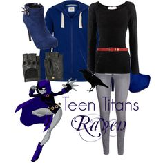 A beauty collage from September 2013 featuring fingerless gloves, red belt and long necklace. Browse and shop related looks. Teen Titans Go Costume, Teen Titans Outfits, Teen Titans Cosplay, Batman Outfits, Cartoon Outfits, Anime Inspired Outfits, Character Inspired Outfits, Themed Outfits, Casual Cosplay