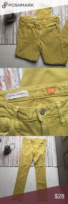 Anthropologie Pilcro Skinny Fit Jeans Mustard colored skinny jeans. 30 inch waist, 39 inches in length, 31 inch inseam. Perfect condition. Anthropologie Jeans Skinny