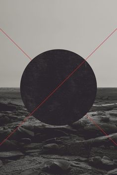 The circle is the focal point in this monochromatic piece creating contrast…