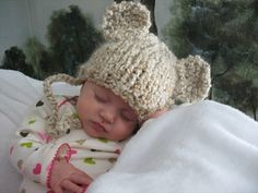 Baby Bear Hat Bear Ears Baby Hat Teddy Bear Knit Bear Hat