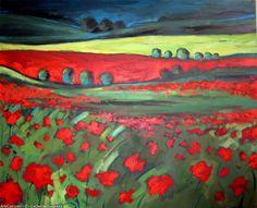 Artwork >> Catherine Suchocka >> the field red