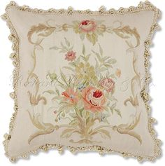 Silk Aubusson French Tapestry Pillow