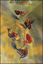 Sunblossom Solar Chime Products - Butterfly Mobile