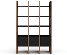 Office bookcase with doors on bottom