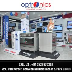Optronics:- One of the leading Showroom in Kolkata featuring major brands. Venue: 72A, PARK STREET Phone: +91 3322870362