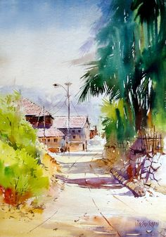 artist Vilas Kulkarni (b1967, Karnataka, India) | watercolor