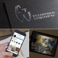 To λογότυπο και η εταιρική ταυτότητα που σχεδιάσαμε για τον αγιογράφο Ευάγγελο Ευκαρπίδη.  Logo and id design project for the byzantine icons painter Evaggelos Efkarpidis Id Design, Logo Design, Corporate Id, Byzantine Icons, Design Projects, Logos, Creative, A Logo, Legos