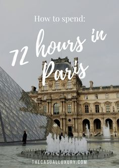 How long do you need? All we had was 72 hours, a weekend in Paris, and it ended up being one of our best trips yet. We were unsure on what we would accomplish, but all we knew was that we were going to try. And that we would need a lot of coffee (espresso), a map (or Google Maps), and comfortable shoes (thank you Stan Smith). So where do I begin? If you know me, you know I am a planner. Sometimes too much of a planner. But I made a promise with my husband, and we took off from O'Hare with…