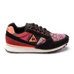 Baskets Sneakers Eclat Midnight Femme Le Coq Sportif, magnifiques les chaussures fleuries