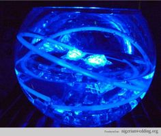 Ice Blue Centerpieces | ... the glow necklaces and led ice cubes and the submersible led ice cubes