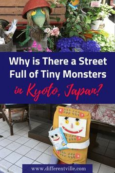 If you're looking for something different to do in Kyoto, we have found it. Go monster hunting. Known as Kyoto Yokai Street, It's just as steeped in history as Kyoto's temples - but a lot less crowded! Japan Travel Guide, Asia Travel, Monster Hunt, Stuff To Do, Things To Do, Asia Continent, Unusual Hotels, Travel Itinerary Template, Japan Destinations