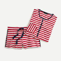 J.Crew: Softest Jersey Henley Pajama Set In Stripe For Women Sleepwear & Loungewear, Sleepwear Women, Pajama Set, Pajama Pants, Kids Sleep, Henley Shirts, Pj Sets, Second Skin, Lounge Wear