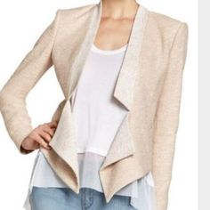Bcbg blazer Light pink/ blush tweed ... Super cute BCBGMaxAzria Jackets & Coats Blazers