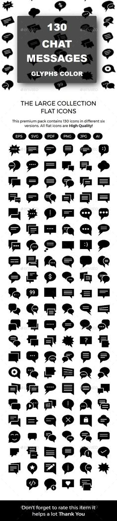Chat Messages Glyphs icons - #Icons Download here: https://graphicriver.net/item/chat-messages-glyphs-icons/20006438?ref=alena994