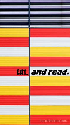 eat and read | breakfast time reading | environmental print | holiday decoration reading | early literacy | letter recognition | teachmama.com