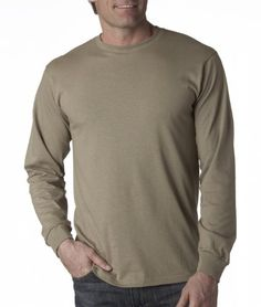 FOL 4930 Adult Heavy Cotton HD LongSleeve TShirt  Khaki Large >>> Read more reviews of the product by visiting the link on the image.
