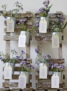 36 Ideas originales para crear tu seatting plan de bodas | Bohemian and Chic