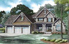 Craftsman   European   House Plan 82235