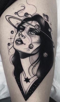 Lydia Madrid, La Llorona Tattoo, Madrid, Spain Lydia is an extremely talented young Spanish tattoo artist who has been making a name for herself on the international scene with her hyperfeminine total black tattoos which showcase her……Read Body Art Tattoos, Small Tattoos, Sleeve Tattoos, Tatoos, Tattoo Life, Piercing Tattoo, Tigh Tattoo, Tattoo Thigh, Thigh Tattoo Simple